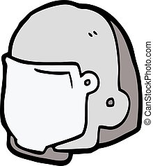 cartoon space helmet