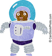 cartoon space man