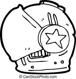 cartoon spaceman helmet