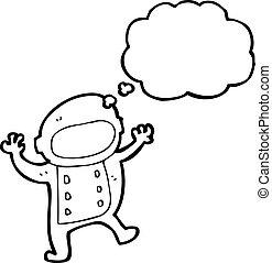 cartoon spaceman
