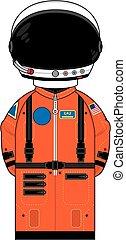 Cartoon Spaceman in Helmet