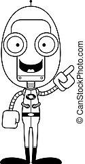 Cartoon Spaceman Robot Idea