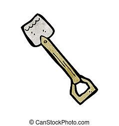 cartoon spade