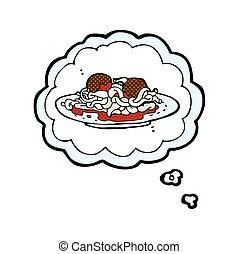 Spaghetti with meatballs. Spaghetti with tomato sauce and ...