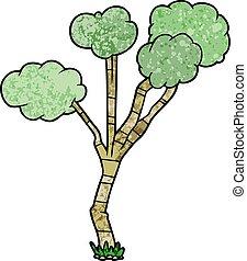 cartoon sparse tree