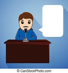 Cartoon Speaker Character