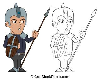Cartoon spearman