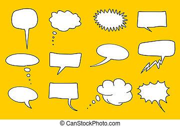 Cartoon speech bubble
