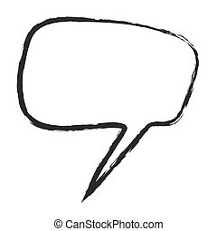 cartoon speech bubble, vector