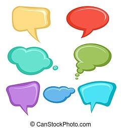 Cartoon speech bubbles set