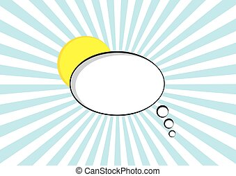 cartoon speech pop art bubble halftone communication sunburst background vector empty cloud symbol with place for text