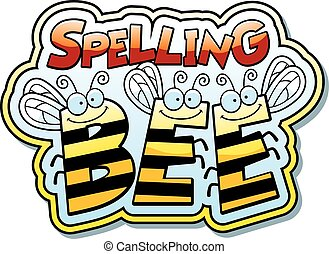 Cartoon Spelling Bee - A cartoon illustration of the word ...