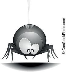 Cartoon Spider - illustration of a cute cartoon style spider...
