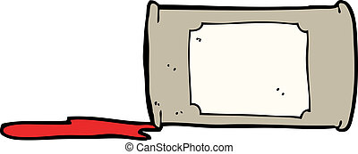 cartoon spilled oil