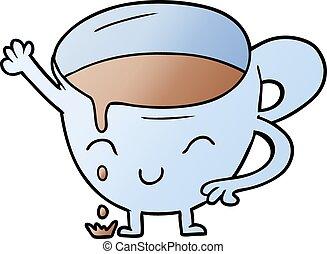 cartoon spilled teacup