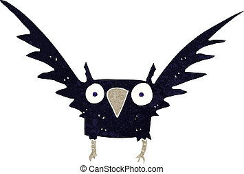 cartoon spooky bird