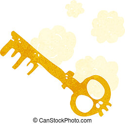 cartoon spooky key