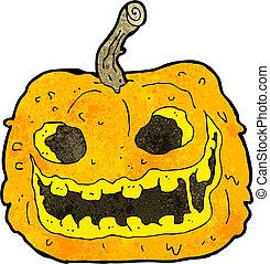 cartoon spooky pumpkin