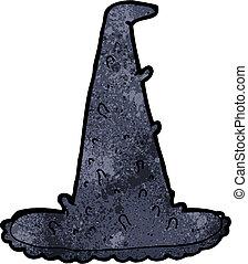 cartoon spooky witch hat