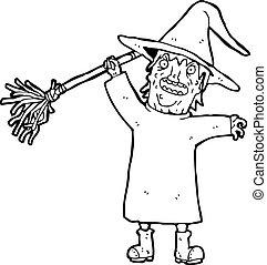 cartoon spooky witch