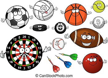 Cartoon sport game items and equipment