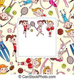 cartoon sport player card