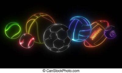 cartoon sports balls set video graphics - cartoon sports ...