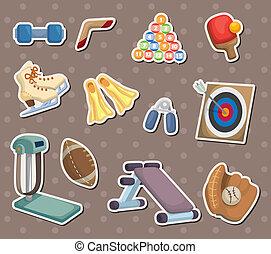 cartoon Sports Equipment stickers