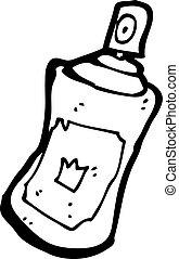 cartoon spray paint can