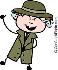 Cartoon Spy Laughing