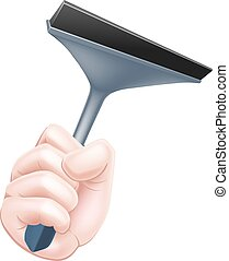 Cartoon Squeegee Hand