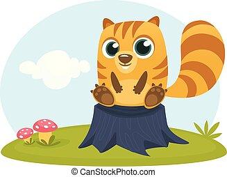 Cartoon squirrel chipmunk