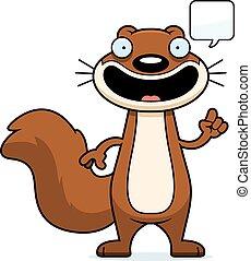 Cartoon Squirrel Talking