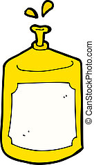 cartoon squirting bottle