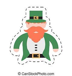 cartoon st patricks day leprechaun traditional icon