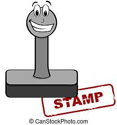 Cartoon stamp