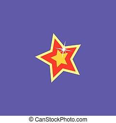 cartoon star icon button