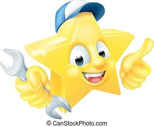 Cartoon Star Plumber or Mechanic
