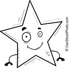 Cartoon Star Smiling