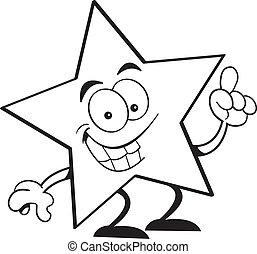 Cartoon star with an idea.