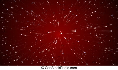 Cartoon starfield - Flying through a star field motion...