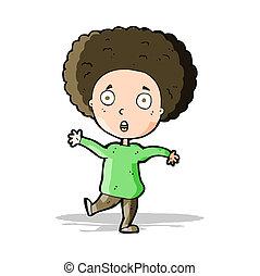 cartoon startled person