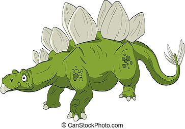 Cartoon Stegosaurus Illustration