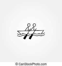 Cartoon stick figure icon