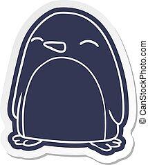 cartoon sticker of a cute penguin