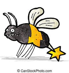 cartoon stinging wasp