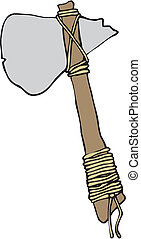 cartoon stone axe