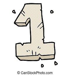 cartoon stone number one