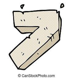 cartoon stone number seven