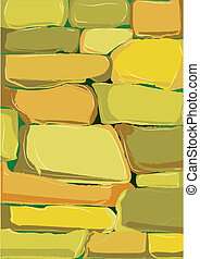 Cartoon Stone Wall.